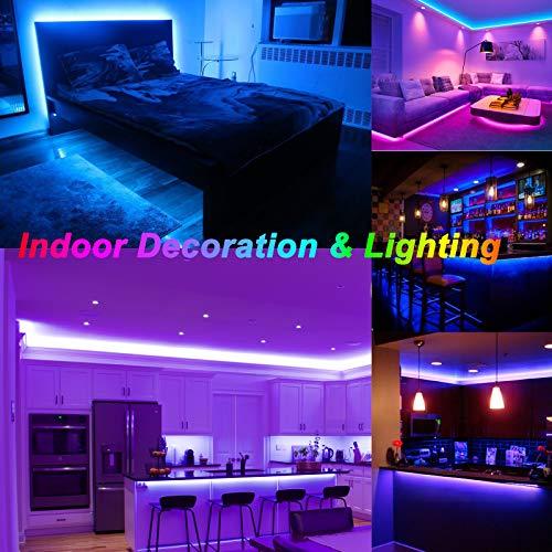 Ruban LED,Sylvwin Bande LED 5m RGB avec Télécommande,5050 Bandes LED Lumineuse avec 16 Changements de Couleur,4 Modes pour Maison,Chambre,Télévision,Décoration D\'armoire,Fête