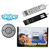 Black Computer Internet Web Chatting VOIP Wired USB Phone LCD MicroPhone MIC SKYPE Dial Number Panel Telephone for MSN YAHOO MESSAGER Freecall Siphone