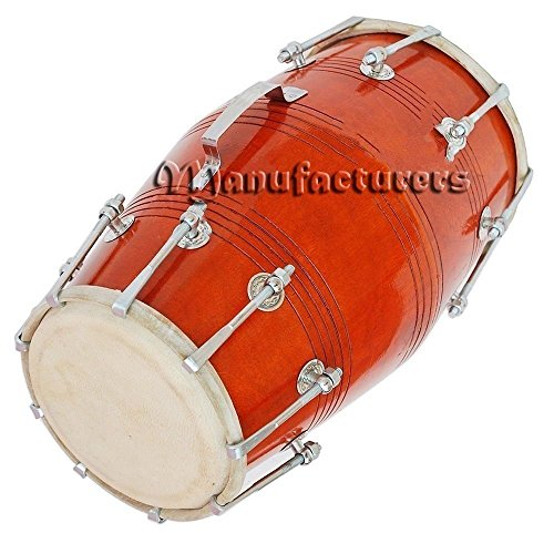 DHOLAK DHOLAKI NUT BOLT 18 BOLT PROFESSIONAL MANGO OR SHEESHAM WOOD BOLT TUNED by SAI MUSICAL