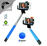 Xtra Extendable Selfie Stick Bluetooth Monopod with Built-In Shutter Button|Wireless Telescoping Stick with Adjustable Holder for iPhone & Android Devices|Handheld & Portable for Perfect Shots