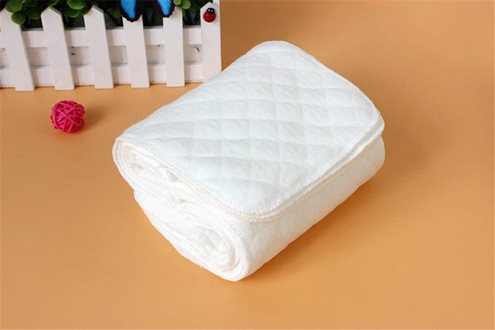 10 St/ück Windeleinlagen hypoallergen weich Baumwolle 3 Schichten 16 x 46 cm hohe Saugf/ähigkeit Waschbare Stoffwindeln