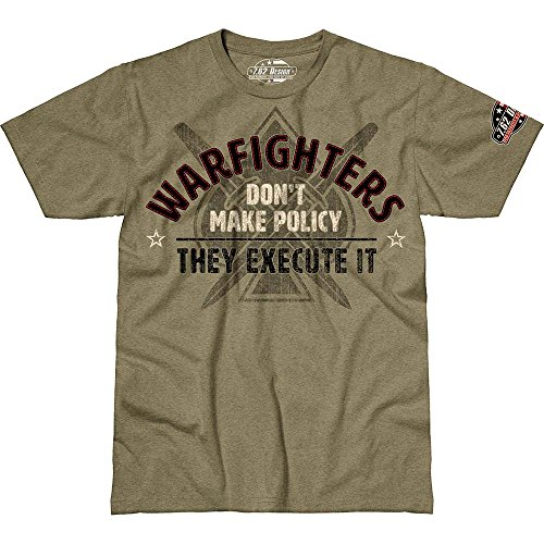 camiseta Warfighters 62 Policy Execute Heather Haki 7 Men Design xwYpq66ta