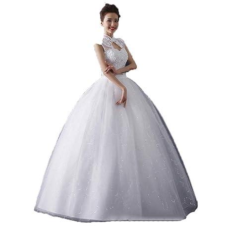 Vestidos de novia Vestido de novia largo con cuentas floral ...