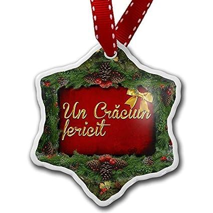 SheilaNelly Christmas Ornament Merry Christmas in Romanian from Romania,  Moldova - Amazon.com: SheilaNelly Christmas Ornament Merry Christmas In