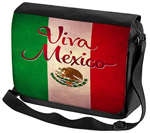 Umhänge Schulter Tasche Welt Reise Viva Mexico bedruckt BSnWOwac