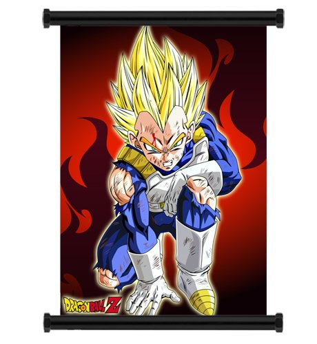 Dragon Ball Z Anime Vegeta Fabric Wall Scroll Poster Wp DragonBallZ-42