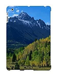 Ipad 2/3/4 Trees Hills Mountains Fall Forest Sky Print High Quality Tpu Gel Frame Case Cover For New Year's Day
