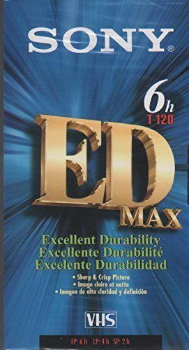 Sony T-120 EDE Max VHS Tapes 8-Pack Videocassette
