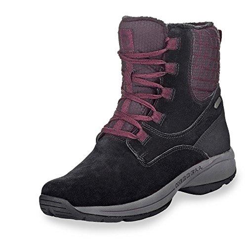 Merrell Jovilee Artica Waterproof Womens Boots (6.5, Black/Huckleberry) (Merrell Crestbound Gtx Waterproof Hiking Boots Womens)