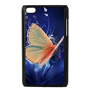 Customized Hard Back Phone Case for Ipod Touch 4 Cover Case - Beautiful Butterfly HX-MI-058005