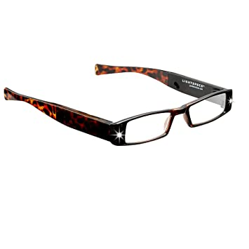 d236ac82a029 LIGHTSPECS Men's Rechargeable Ultra Bright LED Lighted Lightweight  Rectangular Reading Glasses