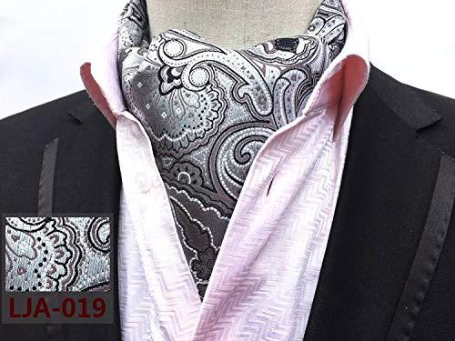 Necktie Retro Shirt Paisley Ascot Formal Polyester COMVIP 19 Scarf Men's UqOxnwY