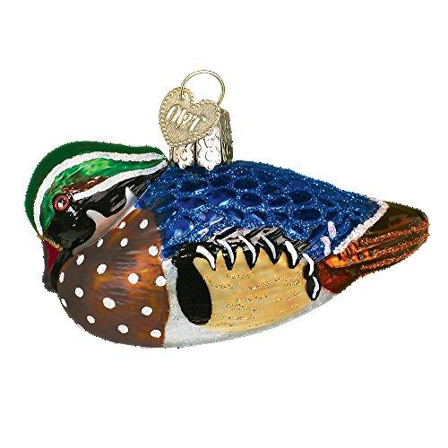 (Old World Christmas Aquatic Bird Glass Blown Ornament (Wood Duck))