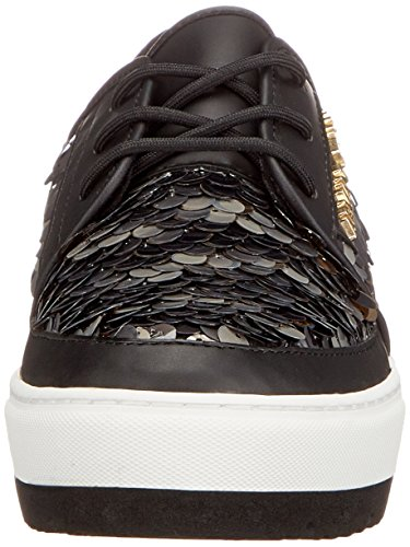 Armani Black WoMen Sneaker 00020 Bassa Nero Trainers Jeans OqR46wWrO