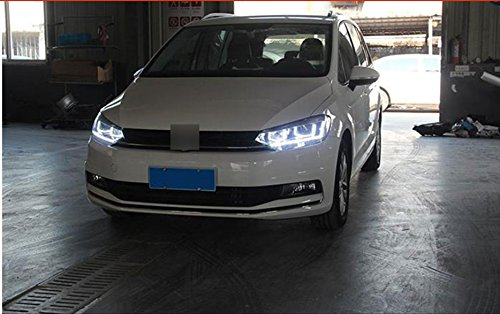 GOWE Car Styling For VW Touran headlights 2016 -For Touran head lamp led DRL front Bi-Xenon Lens Double Beam HID KIT Color Temperature:4300k;Wattage:55w 2