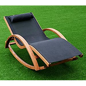 K&A Company Patio Chaise Lounge Folding Chair Outdoor Pool Beach Recliner Furniture Lawn Sun Lounger Reclining New Yard Garden Rocking Headrest