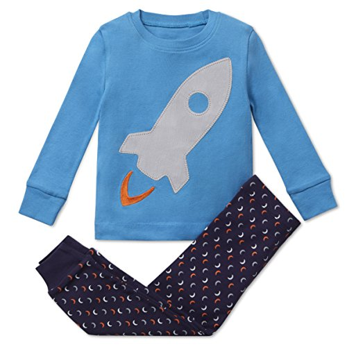 Boys Pajamas Rocket 2 Piece 100% Super Soft