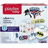 Playtex Baby VentAire Little Hero Gift Set for Boys, Includes Anti-Colic Feeding Essentials to Meet Your Baby's Growing Needs