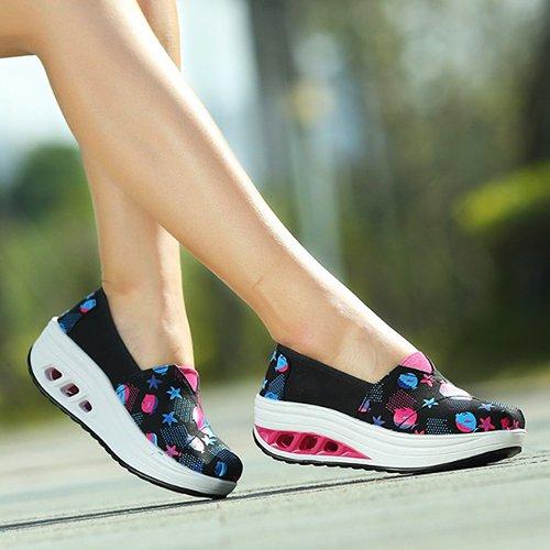 amp;G Zapatos black Casual Mujer Casual De Mujer Calzado fish NGRDX Mujer De Transpirable Lona Zapatos Deportivo Mujer Calzado Calzado C4X4dw