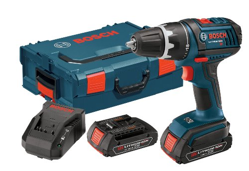 Bosch DDS181-02L 18-volt Lithium-Ion 1/2-Inch Compact Tough Drill/Driver Kit with 2 High...