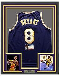 Framed Autographed Signed Kobe Bryant 33x42 Los Angeles LA Purple  Basketball Jersey PSA DNA ec4dfce1f