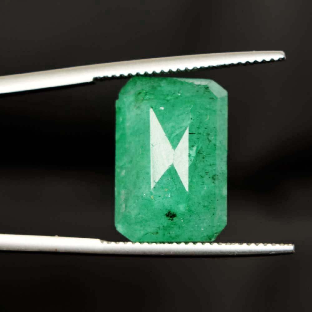 Gemhub 11,45 carati Forma Smeraldo certificata Egl pu/ò Birthstone Verde Smeraldo Pietra preziosa Allentata per Il Regalo di Capodanno AO-435