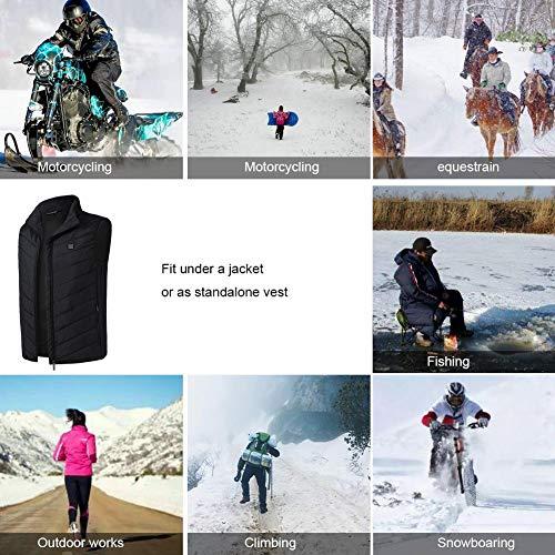 Pour Xl Avec La De Chauffant En Pêche Du Extérieur noir Gilet Ski Isolé Recharge Usb Jannyshop Pratique Tx0aYqfntw
