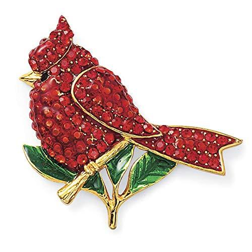 Cardinal Christmas Pin