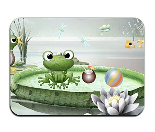 PlayA Frog Pond Fancy Doormat Accent Non-Slip Rug For ()