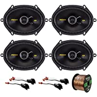 "2 x Kicker 40CS684 6x8"" 2-Way Speakers (2 pairs), 2 x Metra 72-5600 Speaker Adapter for Select Ford Vehicles (2 pairs), Enrock Audio 16-Gauge 50 Foot Speaker Wire"