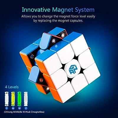 Coogam GAN 356 X Speed Cube 3x3 Stickerless Gans 356X Magnetic Puzzle Cube Gan356 X 3x3x3 M (IPG V5 Version): Toys & Games