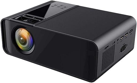 Opinión sobre Mini proyector portátil, proyector de imágenes reflejas difusas Ultra HD 1080P, proyector 3D 16770K, Compatible con USB Dual, HDMI, Interfaz YGA/Auriculares, AV, Equipo KTV, Equipo de Audi(Negro)
