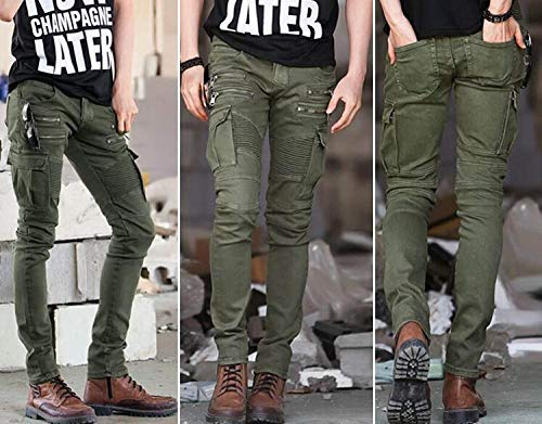 Tempo In Classiche Sportivi Skinny Cargo Libero Slim Per Pantaloni Elasticizzati Multitasche Verde Da Uomo Fit Jogging Il Cotone Ragazzi 8qAzOYw