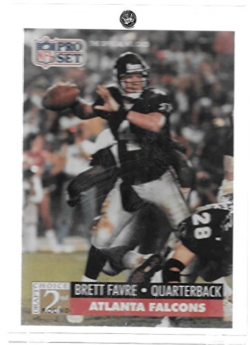 Brett Favre 1991 Pro Set Football Rookie Card # 762 - Atlanta Falcons - Stored in a Protective Plastic Display Case!!