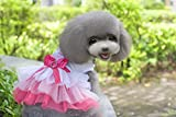 Dogloveit Grenadine Tutu Dress With Bow Summer Cute Clothes For Dog Cat Puppy Pet,Pink,X-Small