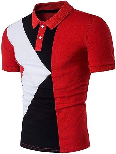 Polo Camisa De Hombre Slim Boda Ocio Suit Fit De Negocios Camisa Moda Completi De Manga Corta Camisas Hombre Camiseta De Hombre tee Top Blusa: Amazon.es: Ropa y accesorios