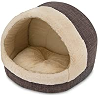 2-in-1 Cat Bed and Cave - with Plush Lining by Best Pet Supplies