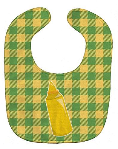Caroline's Treasures Backyard BBQ Mustard Baby Bib, Multicolor, ()