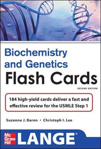 Lange Biochemistry and Genetics Flash Cards 2/E (LANGE FlashCards)