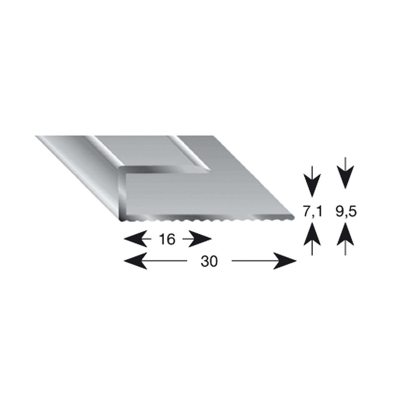 11070/S 100 k/ügele gleitabsc hluss Perfil U aluminio plata anodizado 7//1000/mm 1/pieza