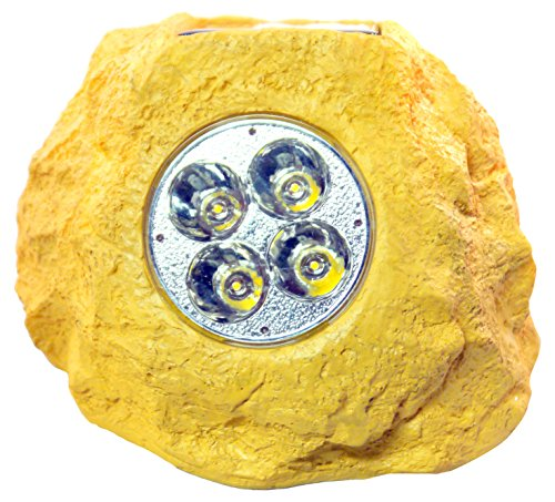 (Homebrite Solar 33846/4 Power Spot Lights Solar Rock Spotlight,)