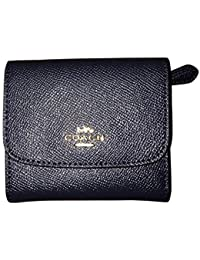 F87588 WOMENS SMALL WALLET IN CROSSGRAIN LEATHER Midnight BLUE