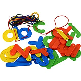 Anthony Peters 26 Large Threading Letters, Alphabet Lower Case with Laces