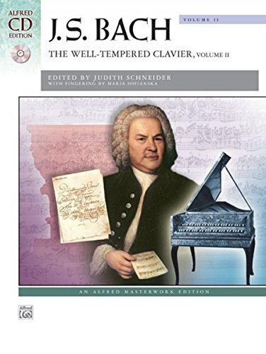 Bach -- The Well-Tempered Clavier, Vol 2: Comb Bound Book (Alfred Masterwork CD Edition)