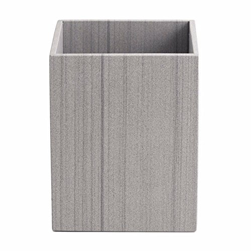 Bathroom Marble Wastebasket Capistrano Garbage Bin Graphite Grey Hand Crafted