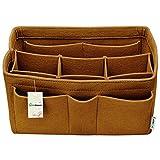 Hokeeper Felt Purse Insert Organizer, Handbag Organizer, Bag in Bag for Handbag Purse Tote, Diaper Bag Organizer, Stand on Its Own,10 Compartments, 4 Sizes, 6 Colors