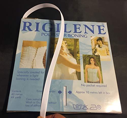 5 Yards Rigilene Polyester Boning For Nursing-corsets-hoop Skirts-1/2 Inch White ()