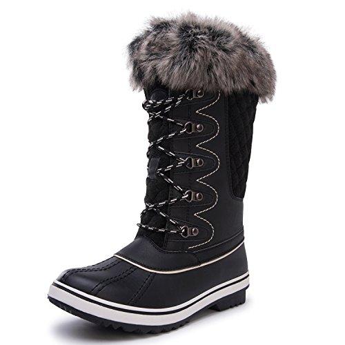 KINGSHOW 1715black Boots Women's Winter Waterproof Globalwin wwBUxapF