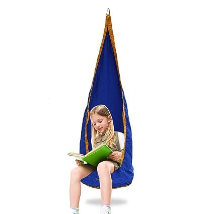 Kids Swing Hammock Pod Chair - kids Hanging Chair Child Pod Swing Chair Childu0027s Rope Hanging  sc 1 st  Amazon.com & Amazon.com: Kids Swing Hammock Pod Chair - kids Hanging Chair Child ...