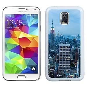 NEW Unique Custom Designed Samsung Galaxy S5 I9600 G900a G900v G900p G900t G900w Phone Case With New York City Blue Dusk_White Phone Case